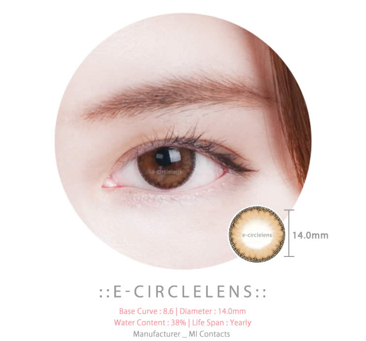Natural Effect Brown Circle Lens